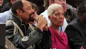 Former New York Knicks player Walt Frazier watches the game between the New York Knicks and the Boston Celtics at Madison Square Garden. Knicks won 106 - 104. Anthony Gruppuso-US PRESSWIRE