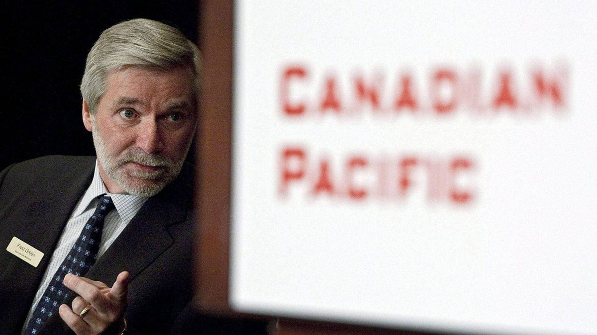 CP Rail CEO Fred Green: 'Contrary to Pershing Square's assertions, the board holds CP's senior management team accountable for the financial results of the business.'