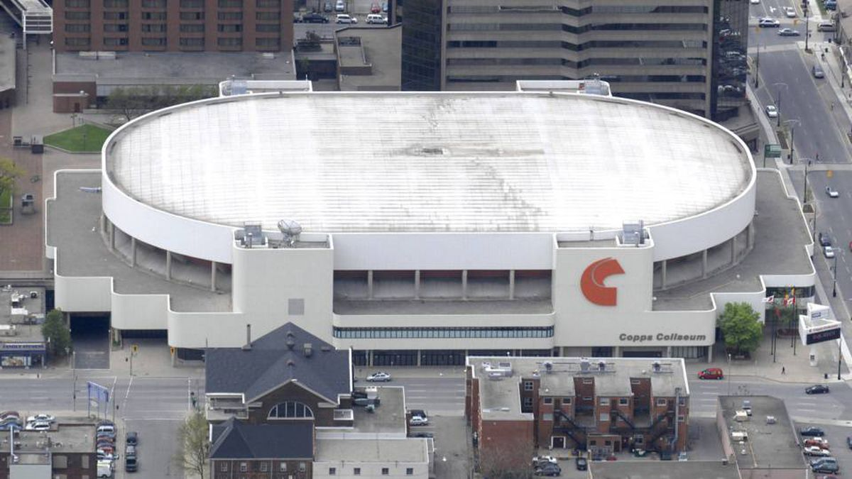 Copps Coliseum as seen in this May 21, 2008 aerial picture, in Hamilton, Ont.
