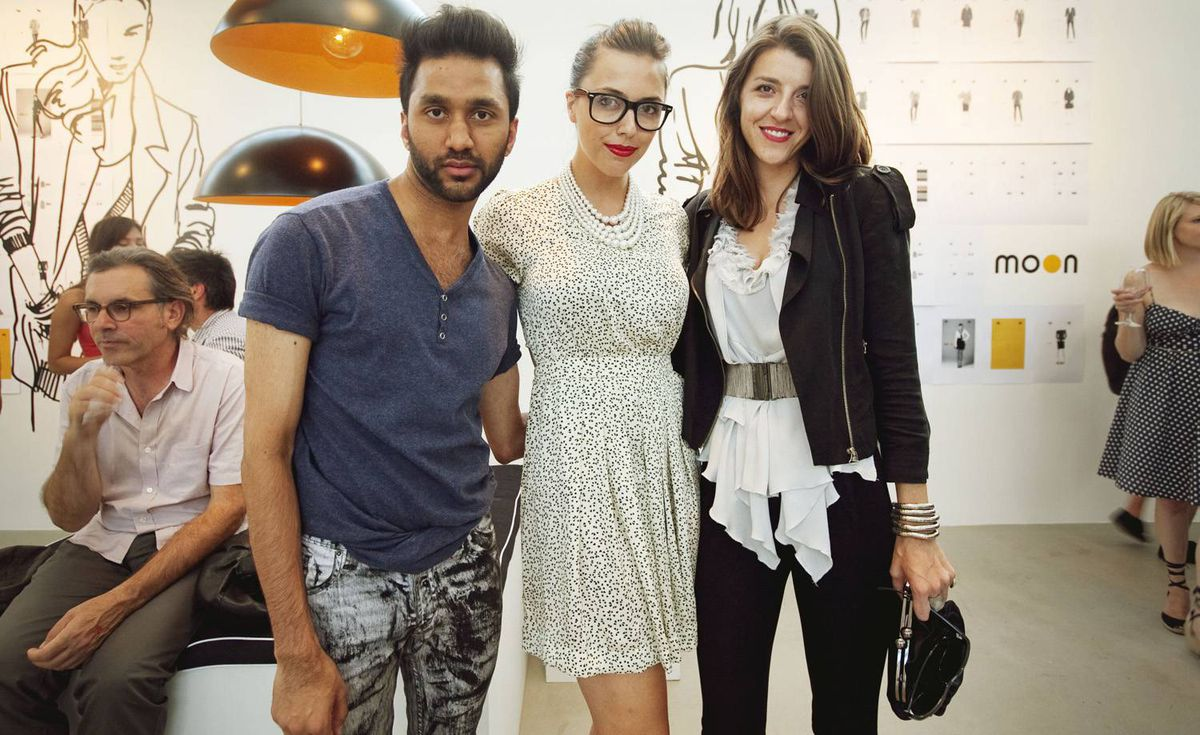 Shan Sarwar, Angela Young (centre) and Alexis Honce