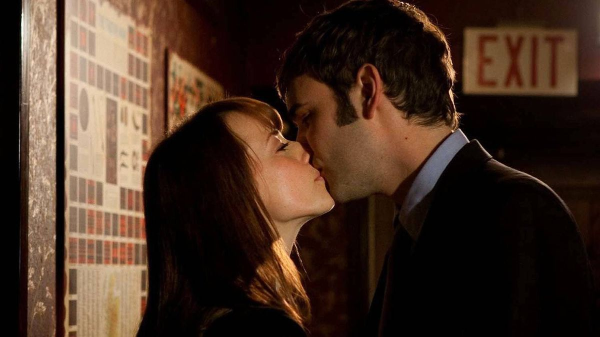 "Karine Vanasse and Rossif Sutherland in a scene from ""I'm Yours"""