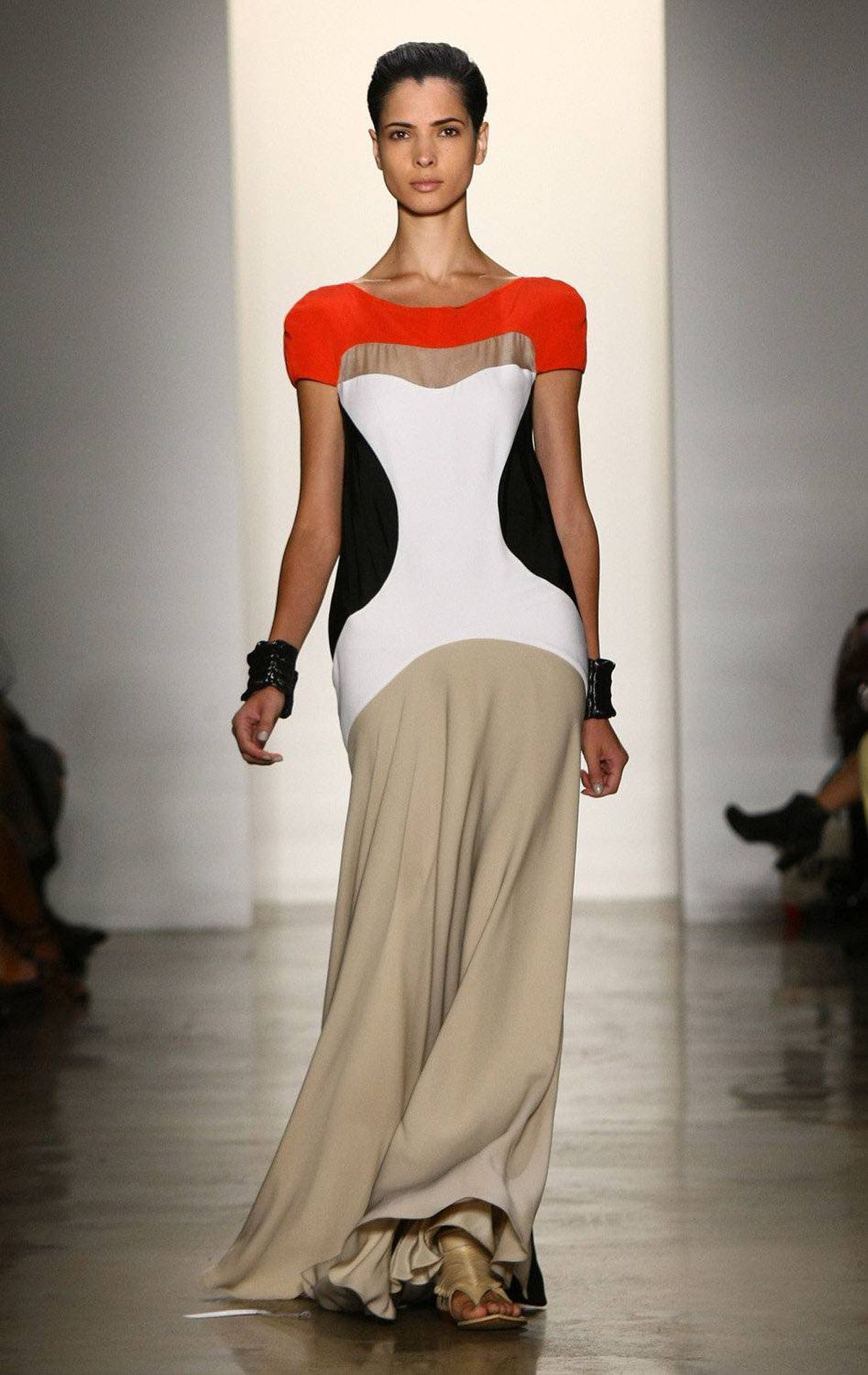 A model walks the runway at the Ohne Titel Spring 2012 fashion show during Mercedes-Benz Fashion Week at Milk Studios on September 12, 2011 in New York.