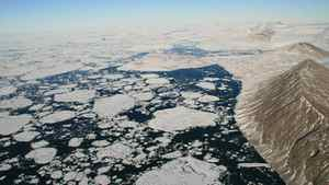 This handout image shows Markham Fjord in August 2008 after the Markham Ice Shelf broke away. Two ice shelves in Canada's far north have lost massive sections since August while a third ice shelf now is adrift in the Arctic Ocean, said researchers on September 3, 2008 who blamed climate change.