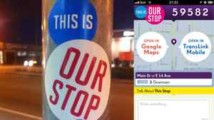 This Is Our Stop officially launches Thursday in Vancouver. It has no affiliation with Vancouver's TransLink, but its creators plan to release it as an open-source project, so any interested transit authorities can create their own version.
