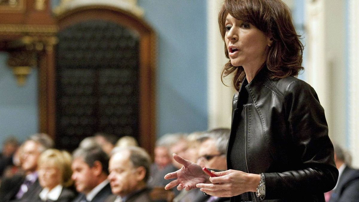 Natural Resources Minister Nathalie Normandeau responds to questions over the Old Harry gas and petroleum field on Oct. 21, 2010 in the Quebec National Assembly.