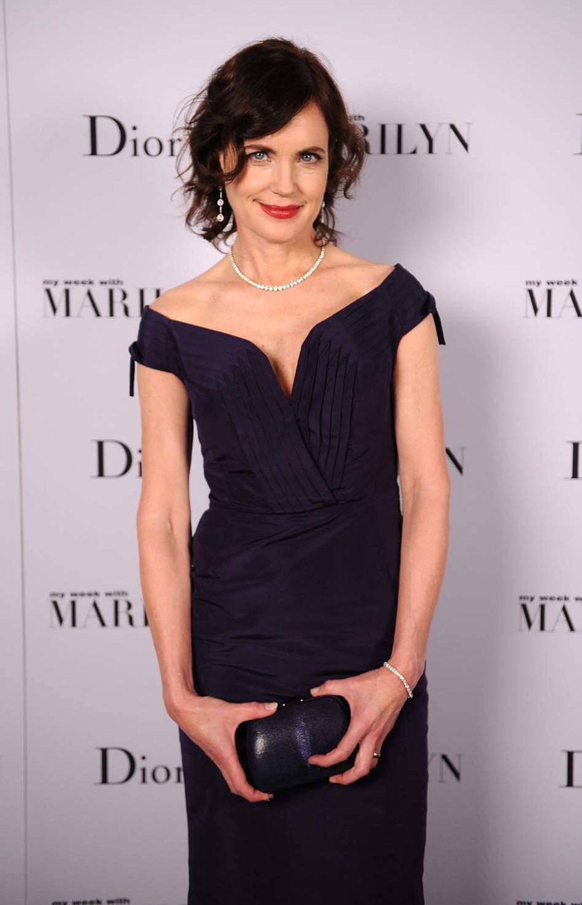 """Week Five of the Occupy Wall Street movement finds couture-and-pearls-bedecked actress Elizabeth McGovern preoccupied with America's growing income disparity at the New York Film Festival premiere of """"My Week With Marilyn"""" at a swank New York City hotel on Sunday."""