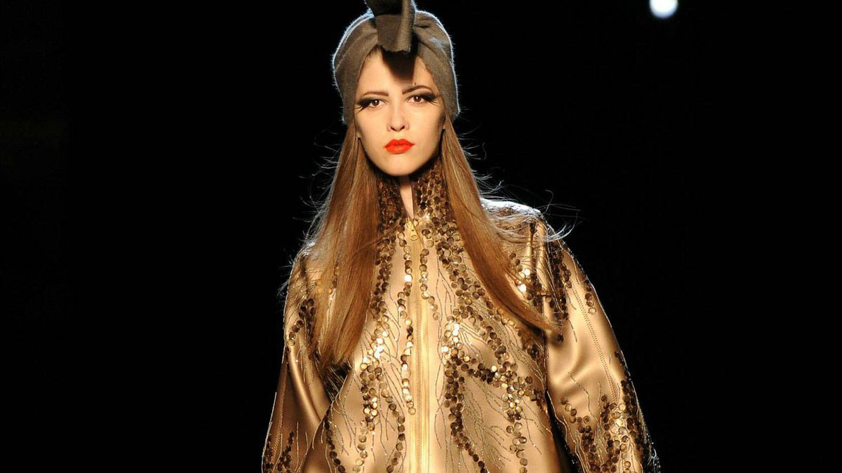 Jean Paul Gaultier presents a look from his fall couture collection.