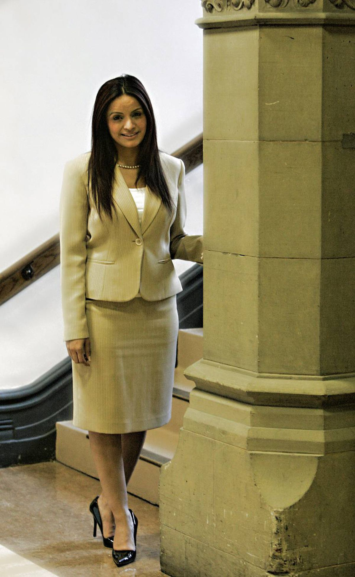 Liberal MP Ruby Dhalla, shown outside her office on Parliament Hill after an exclusive interview with Jane Taber on May 13, 2009, about the allegations of nanny abuse levelled against her.