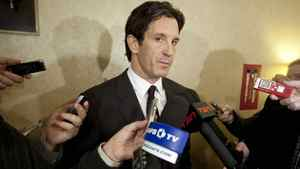 NHL vice president of hockey and business development Brendan Shanahan speaks to reporters Nov. 9, 2010.