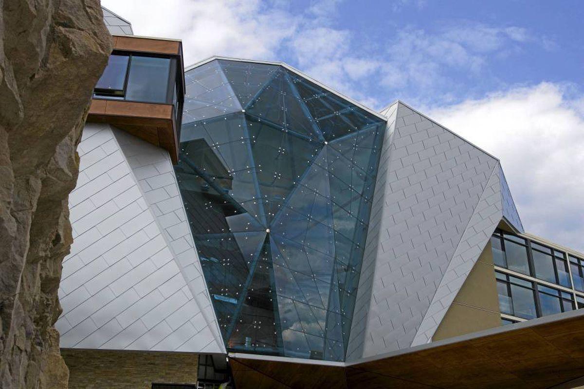 The exterior of Sparkling Hill Resort in Vernon, B.C.