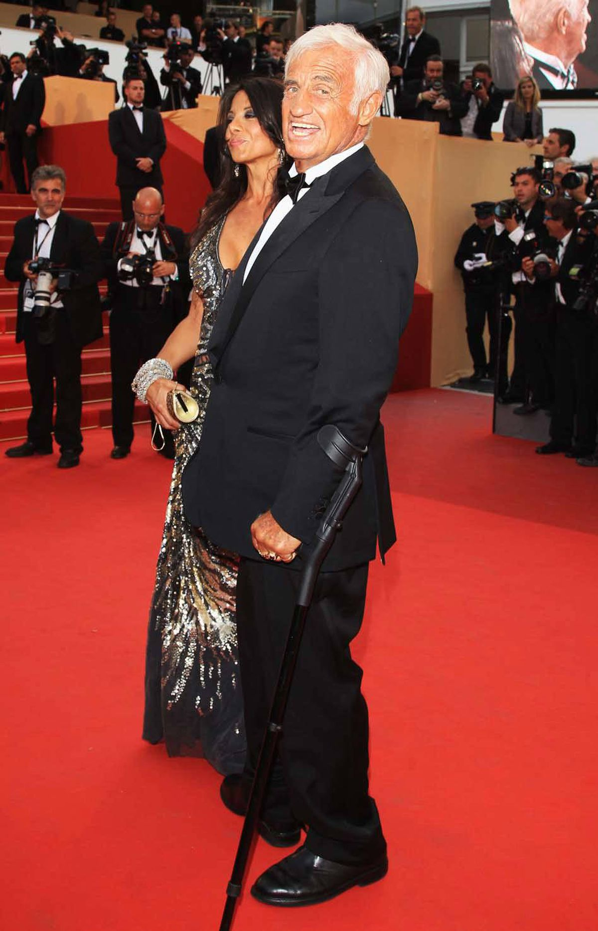 """French Actor of the Day, and Every Other Damn Day, Jean-Paul Belmondo attends """"The Beaver"""" premiere at the Cannes Film Festival on Tuesday."""