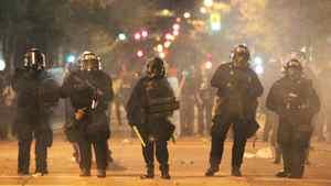 Riot police in Vancouver June 15, 2011.