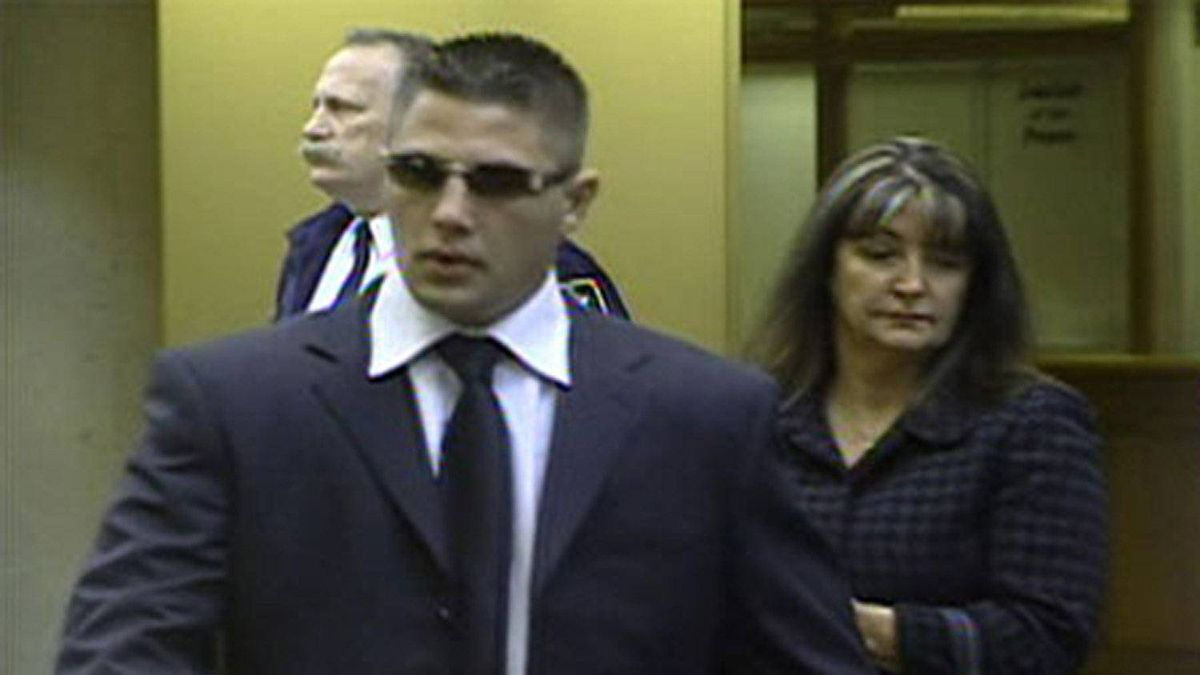 Jarrod Bacon shows up in a Surrey provincial court on April 7, 2009. ctvbc.ca