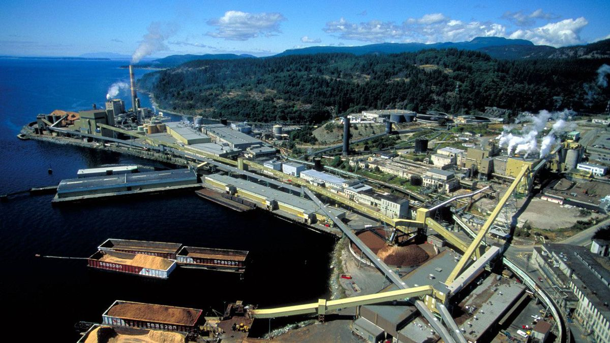 Catalyst Paper's Powell River, B.C., mill. Catalyst shares were down 13.3 per cent Tuesday after the company's $151-million writedown of a recycled-paper Arizona mill.