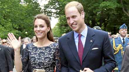 Britain's Prince William and his wife Catherine, Duchess of Cambridge, arrive at an official welcoming ceremony at Rideau Hall in Ottawa June 30, 2011. Prince William and his wife Catherine, Duchess of Cambridge, are on a royal tour of Canada from June 30 to July 8.