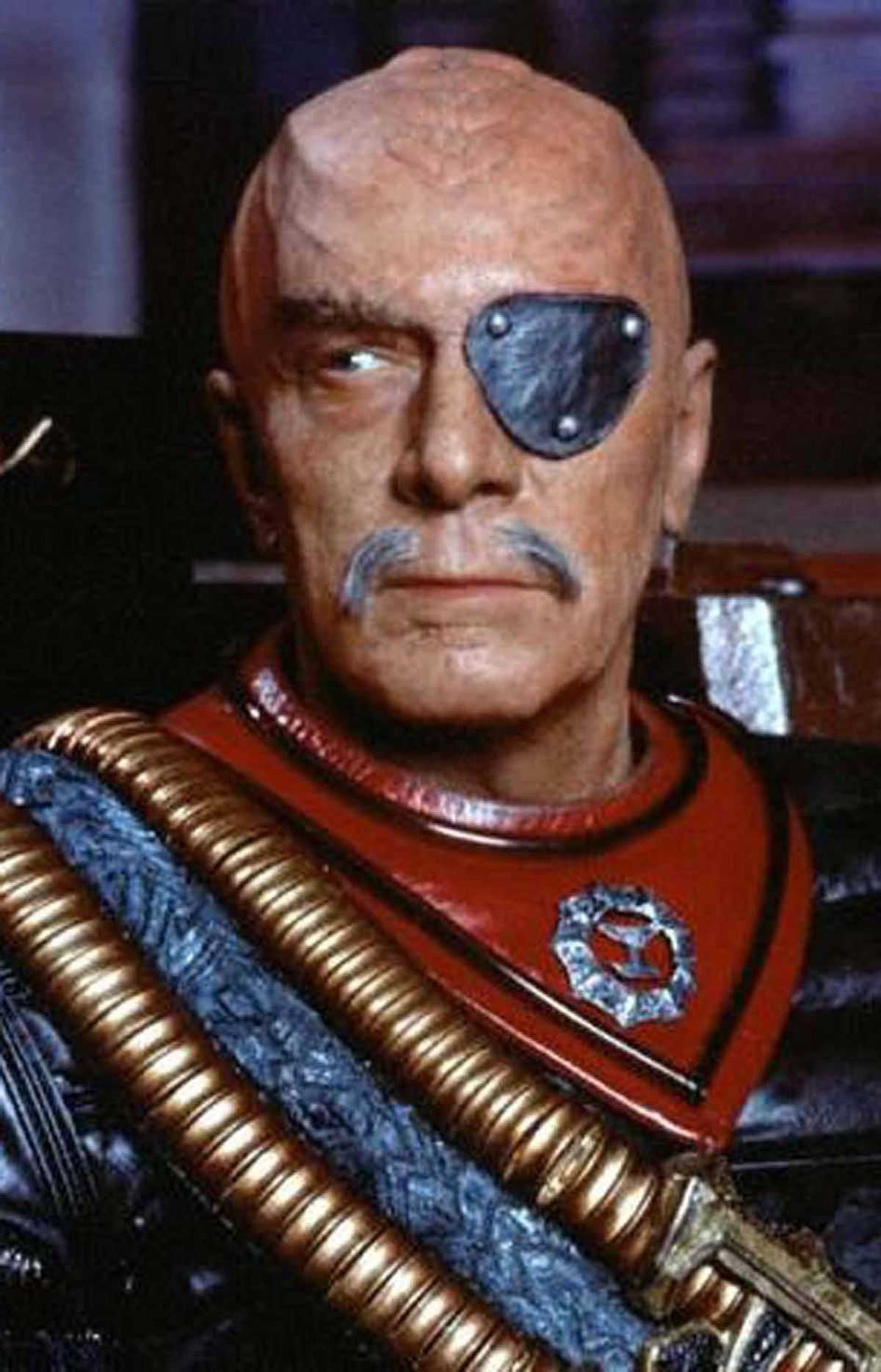 Christopher Plummer as General Chang in Star Trek VI: The Undiscovered Country (1991).