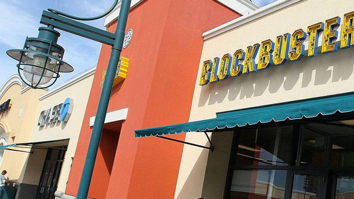 A Blockbuster Video store