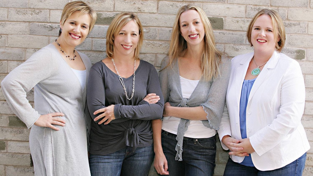 Mabel's Label's co-founders, from left, Julie Ellis, Cynthia Esp, Julie Cole and Tricia Mumby