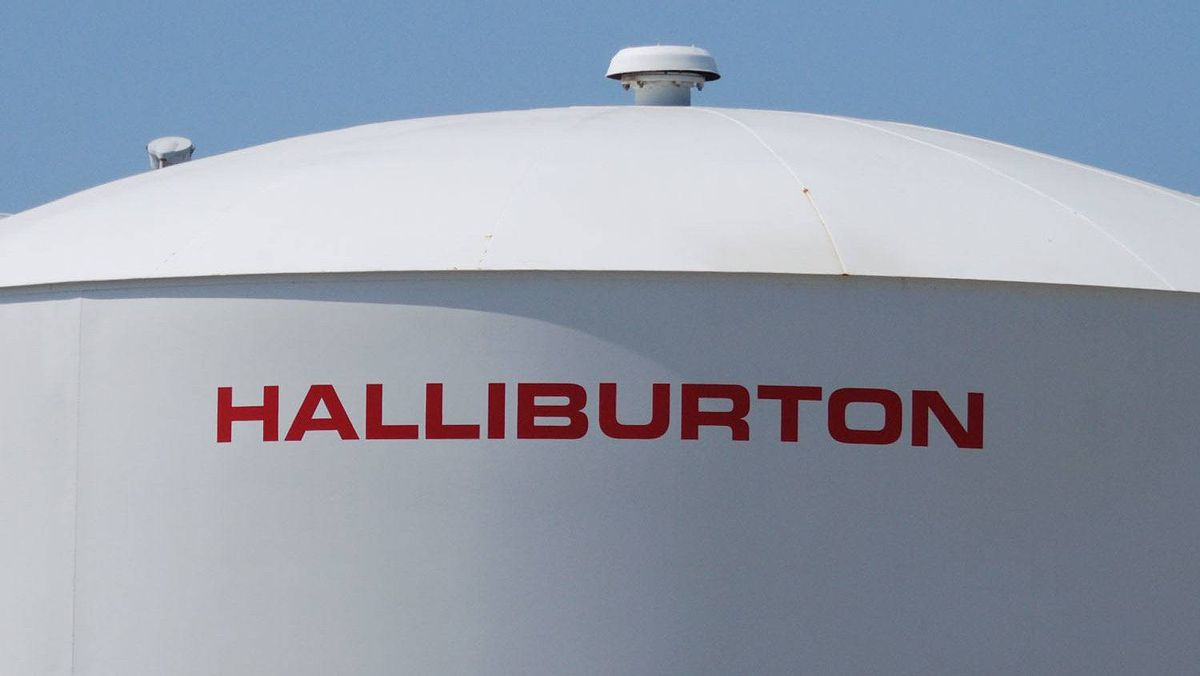 A Halliburton facility in Port Fourchon, Louisiana is seen on April 8, 2011.
