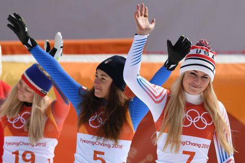 Lindsey Vonn earns bronze medal in her final Olympics downhill