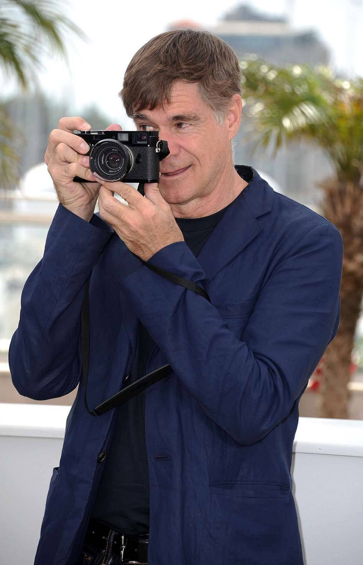 """Director Gus Van Sant attends the """"Restless"""" press conference at the Cannes Film Festival on Friday."""