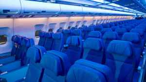 An Air Transat Airbus A330 is shown during the unveiling of the new interior design of Transat jets in Montreal, Thursday, May 17, 2012.
