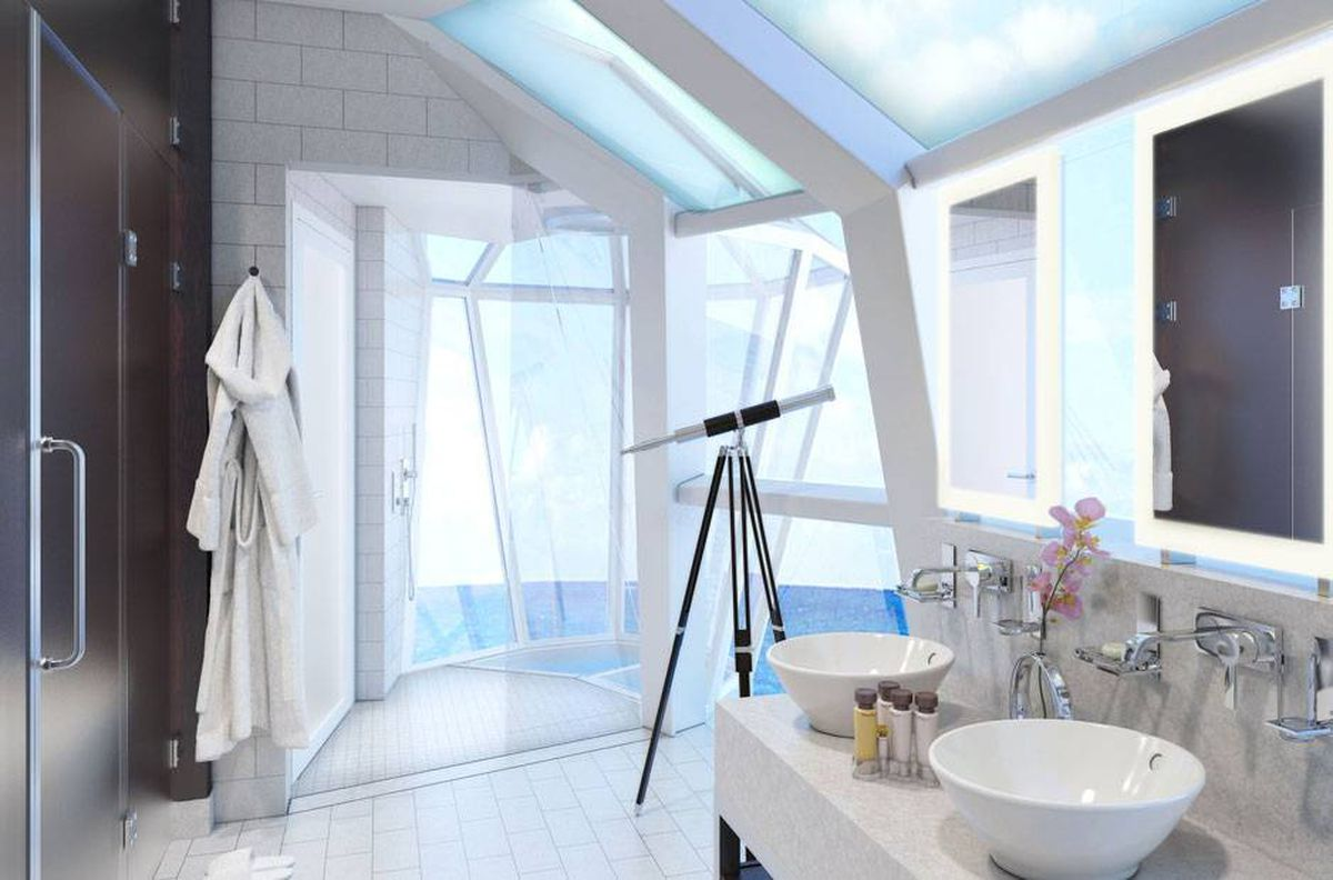 All-glass shower offers expansive seaside view - The Globe