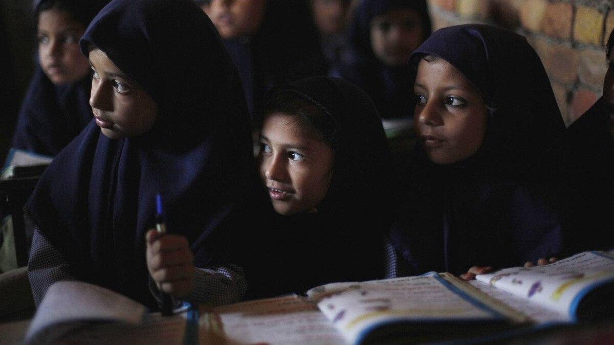 Children attend class at a private school in Qutbal, Pakistan.