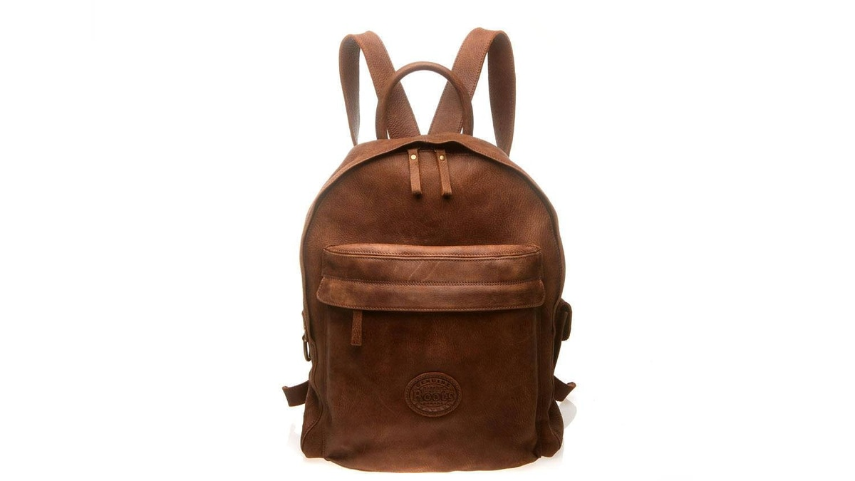 Roots backpack $218 through www.roots.com.