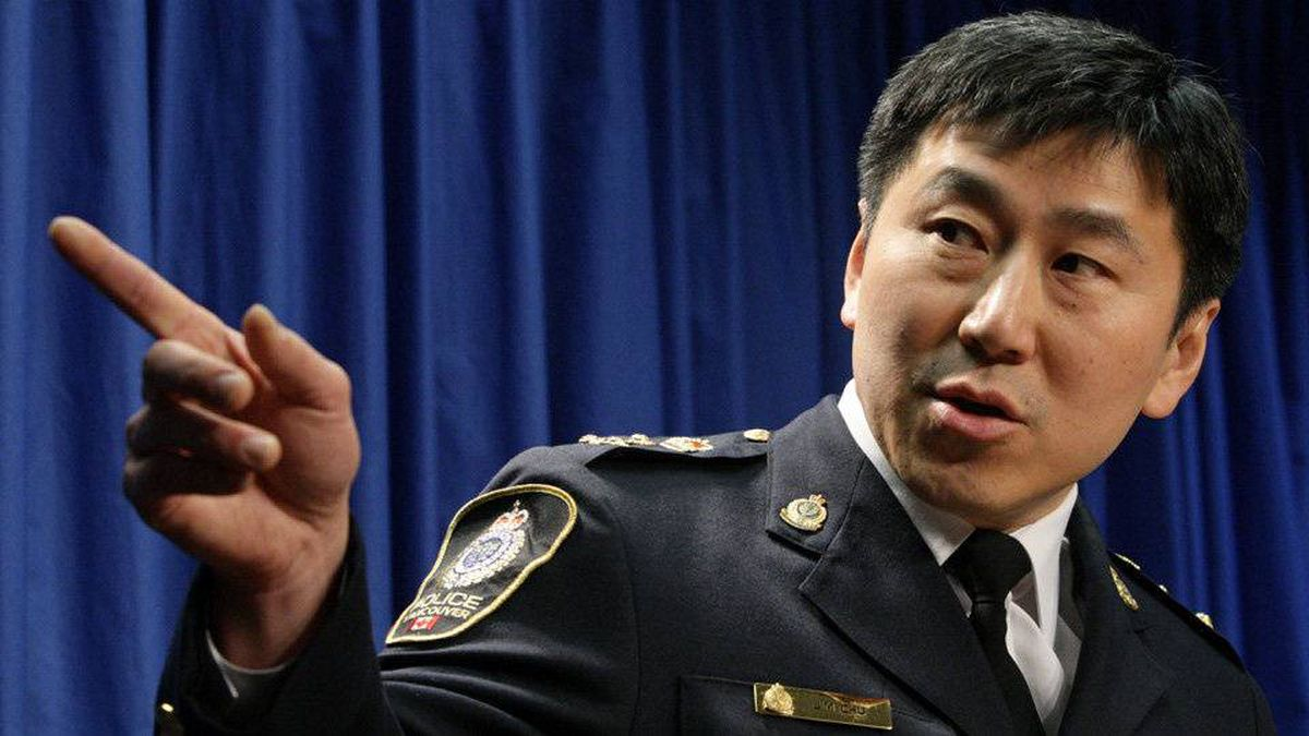 Vancouver Police Chief Jim Chu speaks during a news conference at RCMP headquarters in Vancouver, B.C., on Tuesday March 3, 2009.