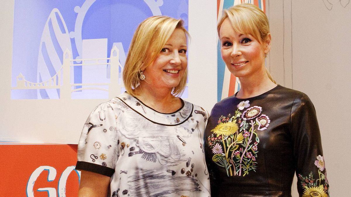 Bonnie Brooks (left), president and CEO of The Bay and Suzanne Rogers