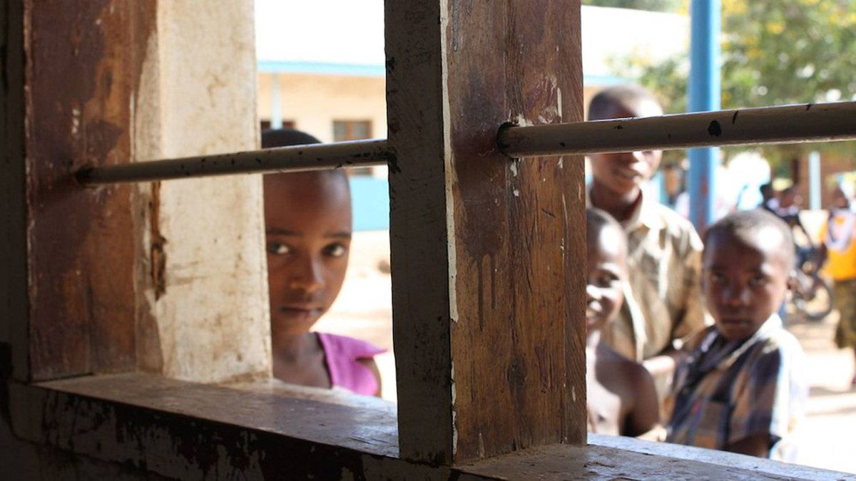 A view from the window of a school in the Tanzanian village of Azimio Mswiswi.