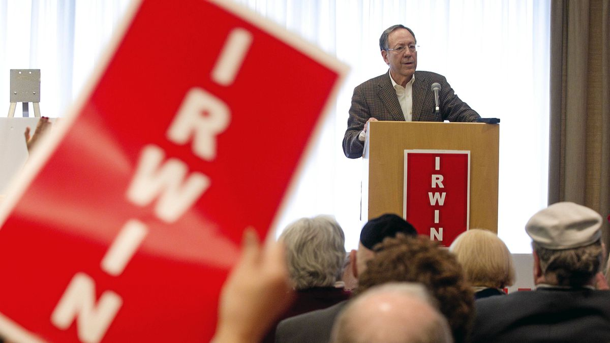 Liberal MP Irwin Cotler speaks to supporters during the launch of his election campaign in his Mont Royal riding of Montreal, April 10, 2011.
