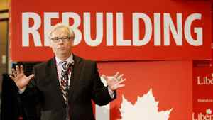 Alfred Apps, outgoing President of the federal Liberal Party, gives a report on the financial status of the party and the process of the election at the Liberal convention in Ottawa on Jan. 13, 2012.