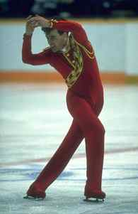 Feb., 20, 1988: Canada's Brian Orser in action during his routine in the men's figure skating competition at the 1988 Winter Olympics held in Calgary. Orser won the silver medal.