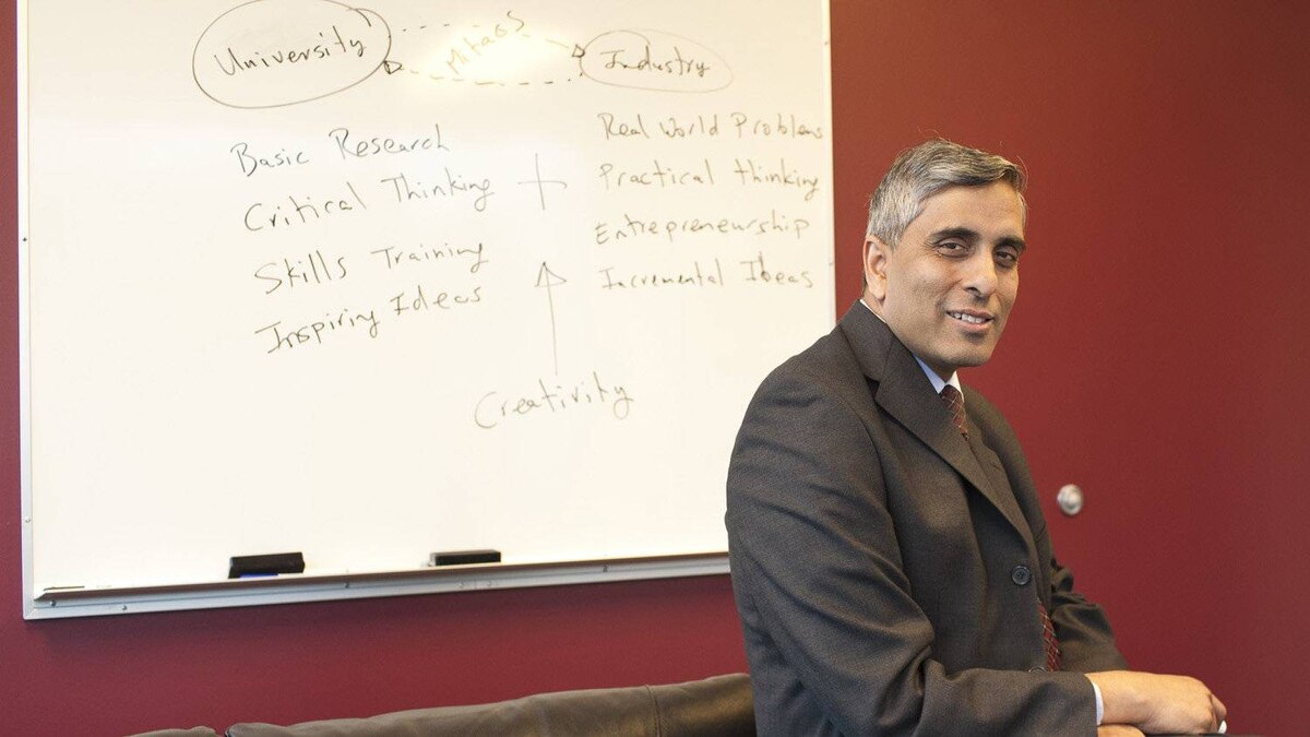 Dr. Arvind Gupta is the CEO and Scientific Director of Mitacs, based at UBC.