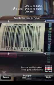 RedLaser scanner This app never fails to impress. Point your iPhone's camera at a barcode and push the button. RedLaser will look up and identify the product, then provide useful information about it. Scan with RedLaser while shopping for TVs to compare prices. Scan and check grocery items to pull up nutritional facts and food allergy information. Capture barcodes and email to yourself to review information later, when you have more time. RedLaser recognizes UPC codes, QR codes, and more. Just point and scan. (Free, redlaser.com)