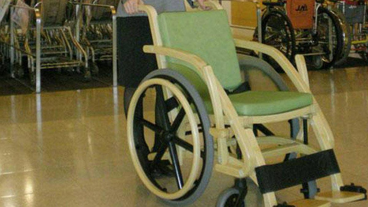 Bamboo wheelchair