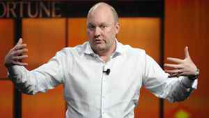 """Marc Andreessen, co-founder and general partner of Andreessen Horowitz, speaks during the """"The Future of Technology"""" panel at the Fortune Tech Brainstorm 2009 in Pasadena, California July 22, 2009."""