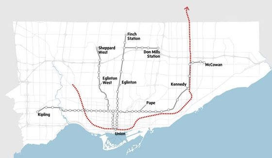 Tory's Smart Track transit plan would cause surge in suburban driving, analysis shows - The Globe and Mail