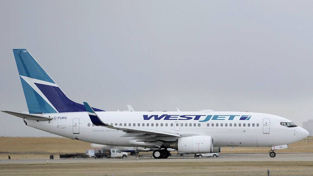 WestJet may offer a little more leg room at the front of the cabin for an extra price.