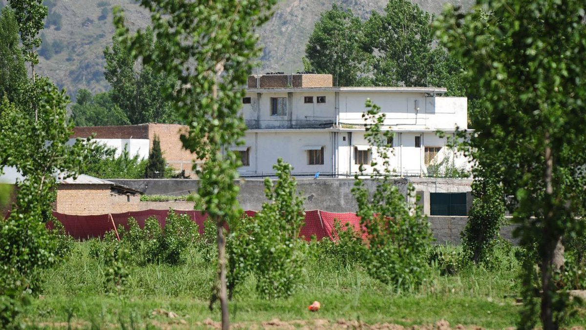The hideout of al-Qaeda leader Osama bin Laden in Abbottabad, Pakiustan is seen after his death by U.S. Special Forces.