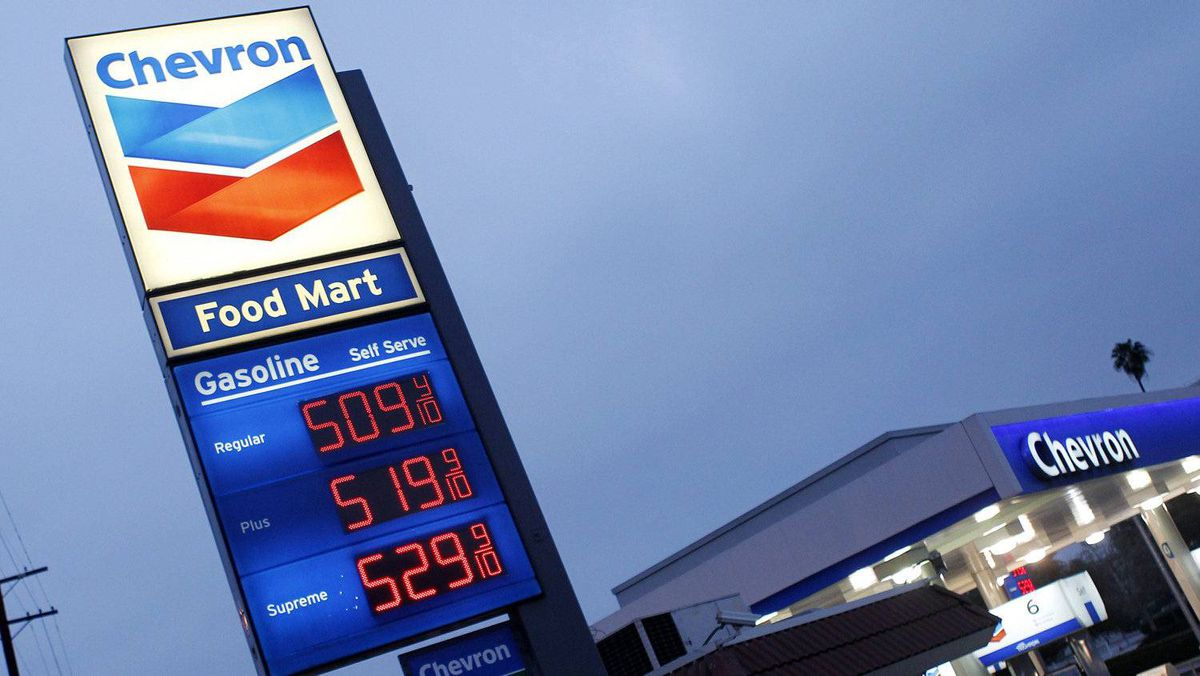Gasoline is priced over $5 per gallon at a Chevron gasoline station in downtown Los Angeles, California March 13, 2012.