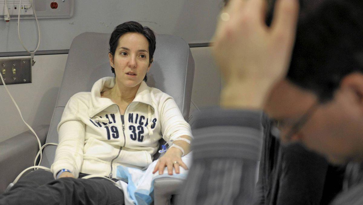 Breast-cancer patient Jill Anzarut at Toronto's Princess Margaret Hospital.