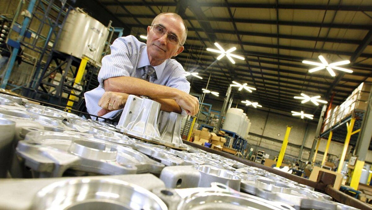 Marc Gauvin, founder and president of Aluminum Surface Technologies at his company's warehouse in Burlington, Ont.