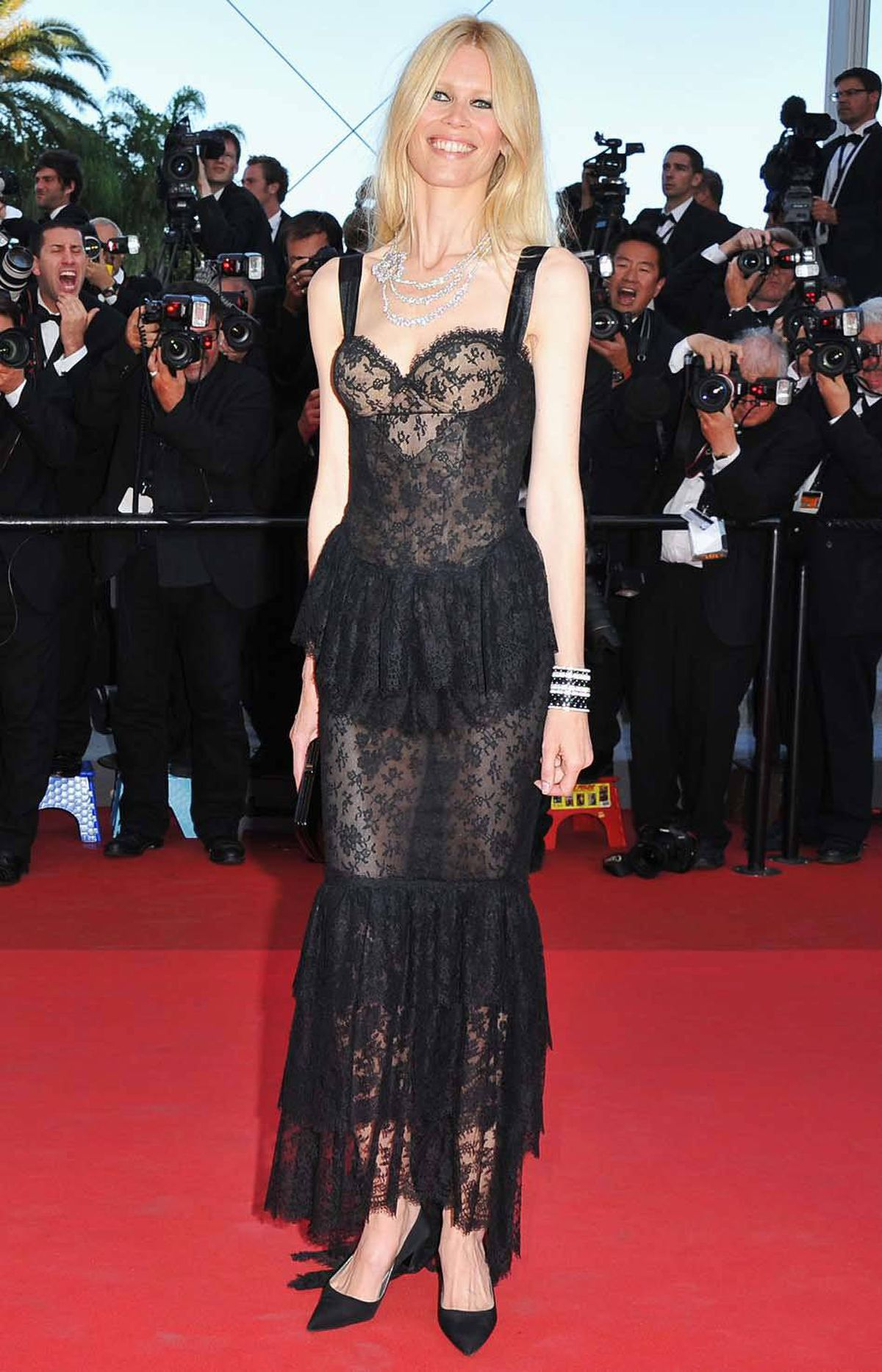 "Claudia Schiffer attends the ""This Must Be The Place"" premiere at the Cannes Film Festival on Friday."