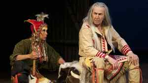 """Jani Lauzon (left) and August Schellenberg in """"King Lear"""" at the National Arts Centre"""