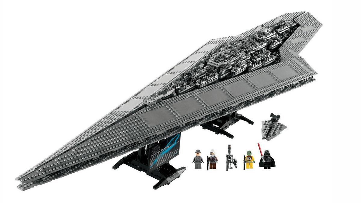 Lego Executor Super Star Destroyer There are times when Lego becomes more than a mere toy, and this highly detailed model of Lord Vader's personal Star Destroyer is one of them. Comprised of more than 3,000 plastic bricks, it's a dauntingly challenging set aimed at geeky grown-ups whose connection to George Lucas' classic space opera and Denmark's famous building blocks reaches back deep into childhood. Your kids can play with it later; the joy of building this epic piece of sci-fi nostalgia is meant for you. ($399.99; www.lego.ca)