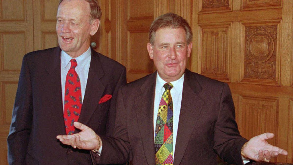 Then-Prime Minister Jean Chretien at a meeting in Ottawa with Alberta Premier Ralph Klein in 1994.