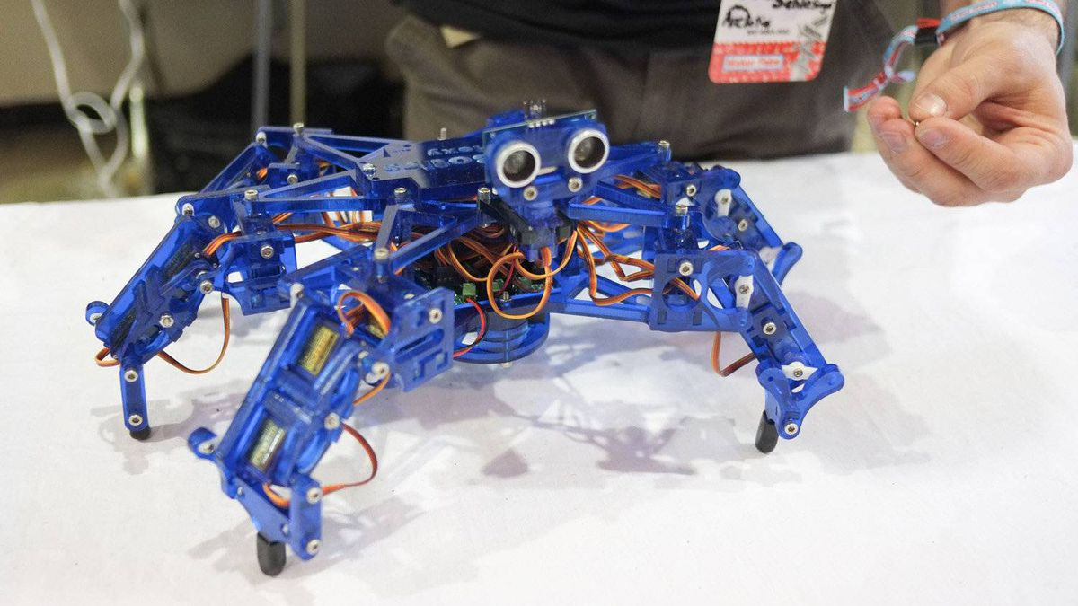 A Boston-based, open-source robotics company called ArcBotics has been developing a low-cost hexapod that it plans to sell as a kit online.